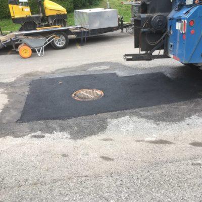 réparation d'un drain pluvial par Pavage Express